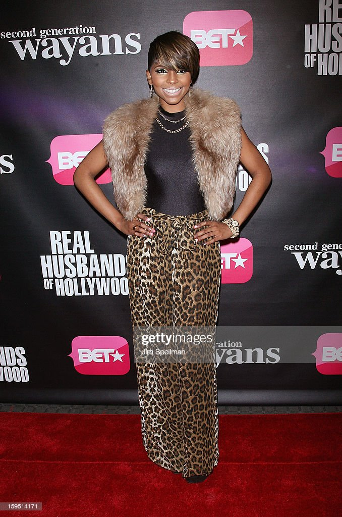 Miss Mykie attends the 'Real Husbands Of Hollywood' & 'Second Generation Wayans' screening at SVA Theatre on January 14, 2013 in New York City.