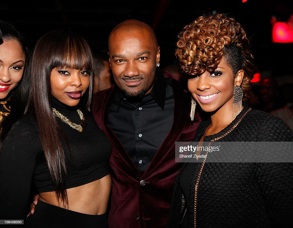 Miss Mykie, Big Tigger and Paigion attend Tigger's 40th Birthday celebration at WIP on December 12, 2012 in New York City.