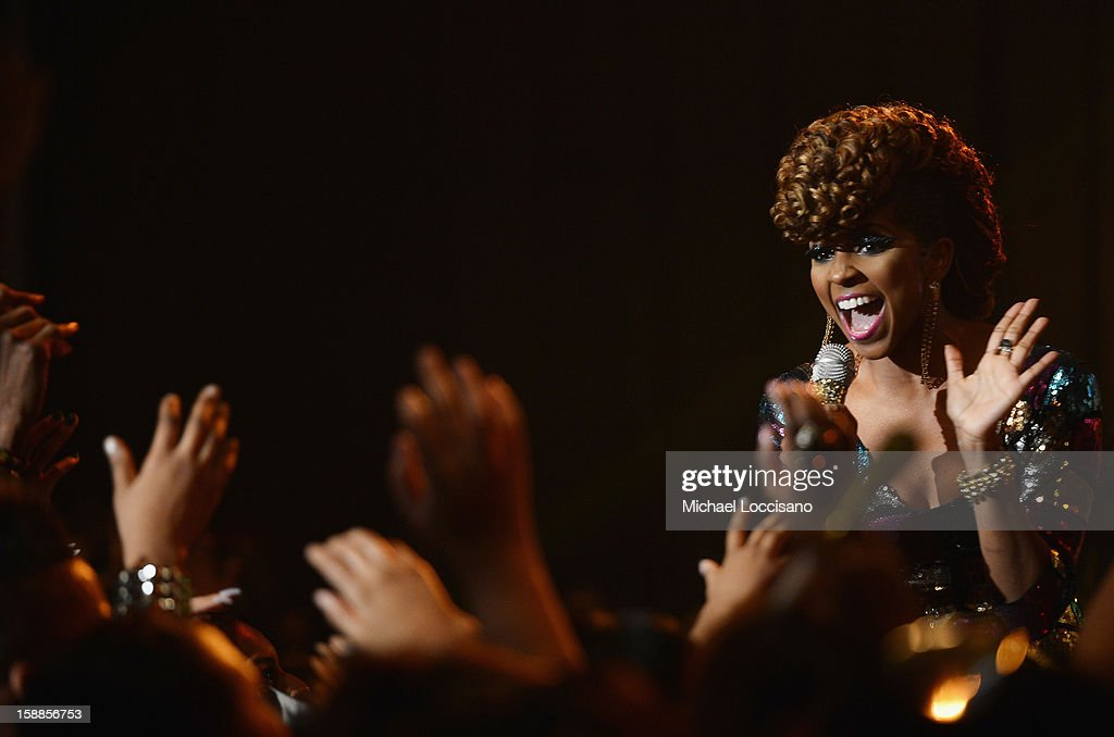 Miss Mykie hosts BET's 106 And Park 2013 New Years Eve Party at BET Studios on December 17, 2012 in New York City.