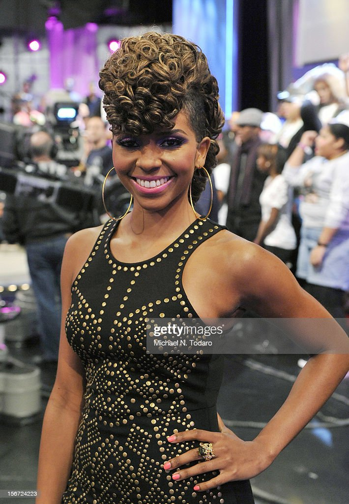 Miss Mykie hosts BET's 106 & Park at 106 & Park Studio on November 19, 2012 in New York City.