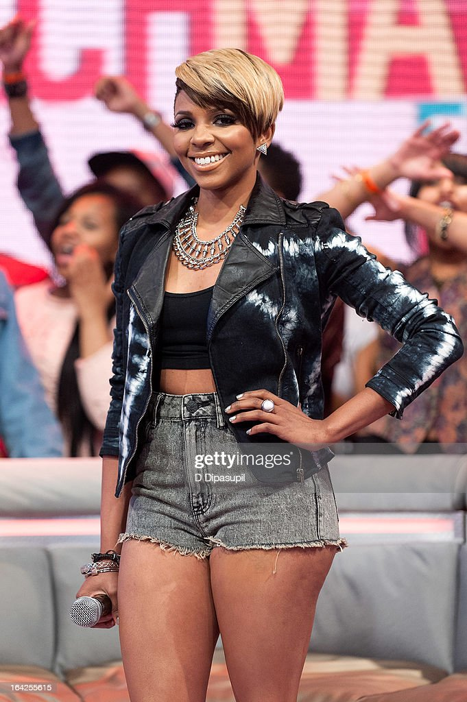 Miss Mykie hosts BET's '106 & Park' at BET Studios on March 21, 2013 in New York City.