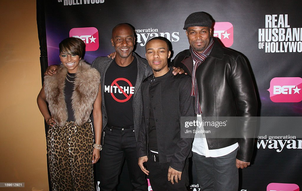 Miss Mykie, Stephen Hill, rapper Bow Wow and actor Chris Spencer attend the 'Real Husbands Of Hollywood' & 'Second Generation Wayans' screening at SVA Theatre on January 14, 2013 in New York City.