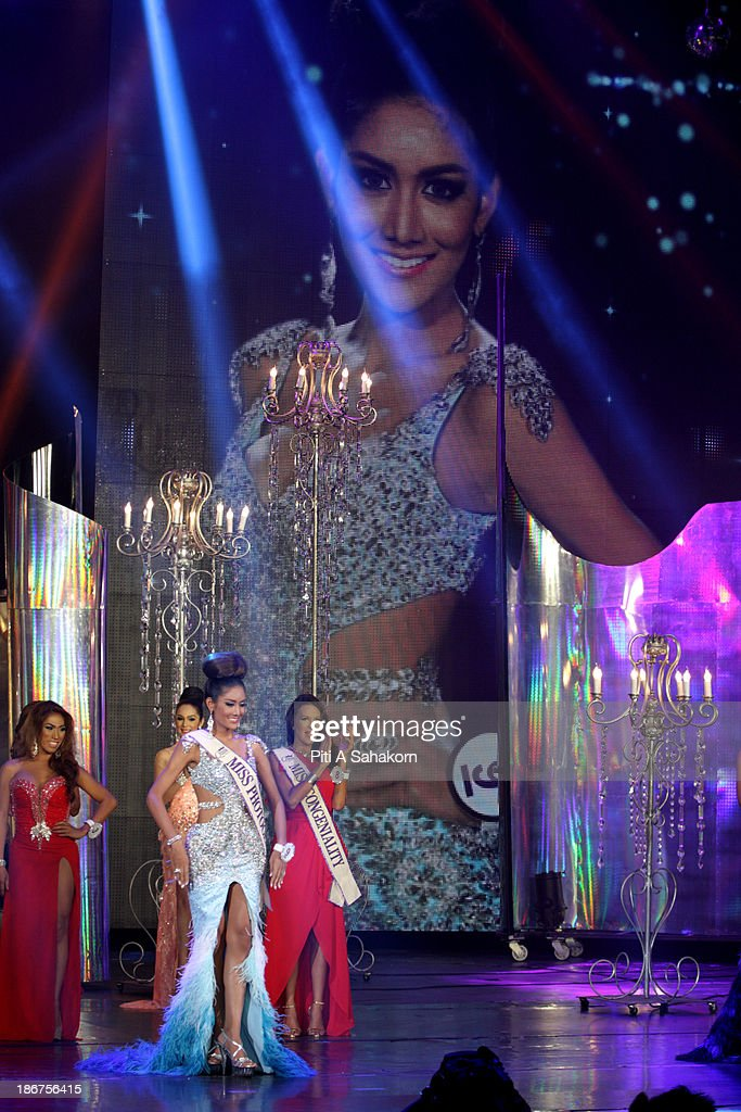 Miss Nethnapada Kanrayanon from Thailand posing on stage in the transvestite and transgender beauty pageant Miss International Queen 2013 at Tiffany's Show theatre in Pattaya city. Twenty-five contestants from 17 countries are participating in the event, which is endowed with prize money of 300,000 Thai baht (10,000 US dollars), a crown with real gems and a free surgery at a plastic surgery clinic in Bangkok..