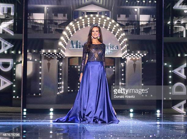 Miss Nevada Katherine Kelley attends the Thursday Night Preliminaries 2016 Miss America Competition at Atlantic City Boardwalk Hall on September 10...