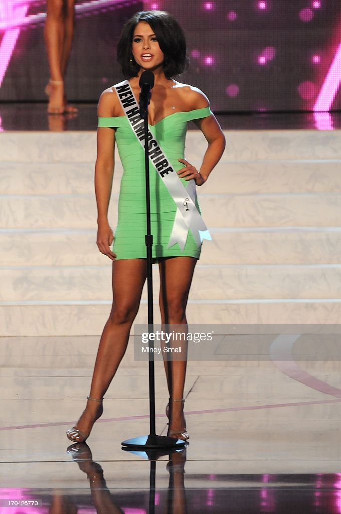 Miss New Hampshire USA Amber Faucher appears at the 2013 Miss USA preliminary competition at PH Live at Planet Hollywood Resort & Casino on June 12, 2013 in Las Vegas, Nevada.