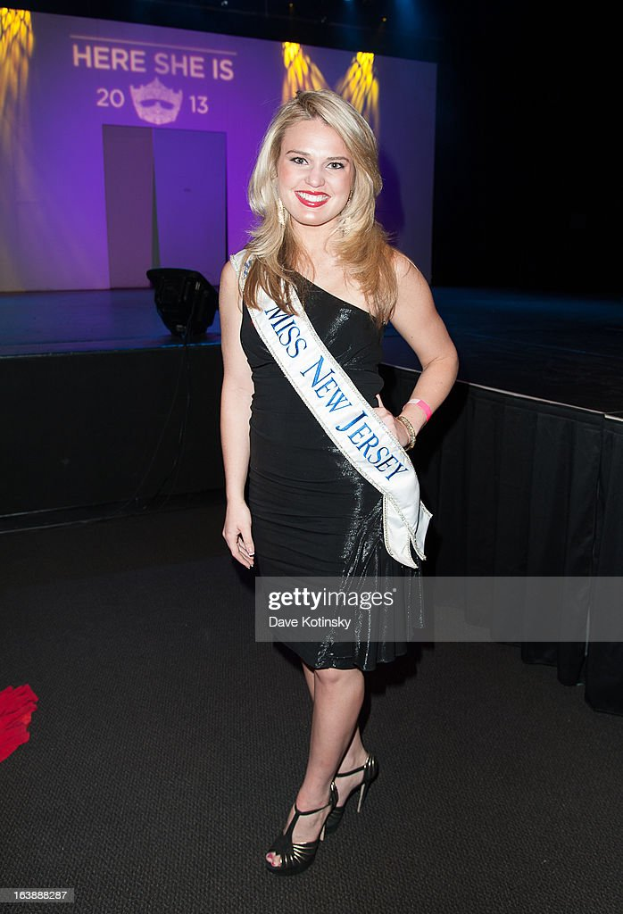Miss New Jersey Lindsey Petrosh attends the Miss America 2013 Mallory Hagan Official Homecoming Celebration at The Fashion Institute of Technology on March 16, 2013 in New York City.