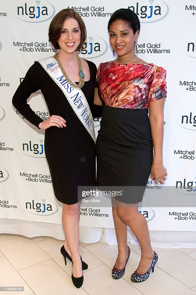 Miss New York 2010 Claire Buffie and stylist Ashley Sousa attends the National Lesbian & gay Journalists Association 16th Annual New York benefit at Mitchell Gold & Bob Williams SoHo Store on March 24, 2011 in New York City.