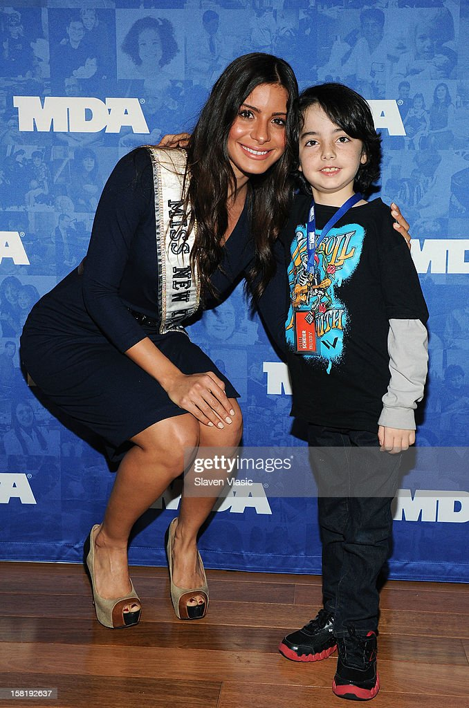 Miss New York 2012 Johanna Sambucini attends MDA's 2013 Muscle Team Kick Off Event at The Lighthouse at Chelsea Piers on December 10, 2012 in New York City.