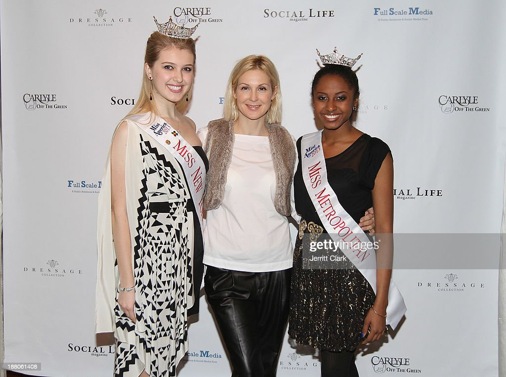 Miss New York City Acacia Courtney, <a gi-track='captionPersonalityLinkClicked' href=/galleries/search?phrase=Kelly+Rutherford&family=editorial&specificpeople=217987 ng-click='$event.stopPropagation()'>Kelly Rutherford</a> and Miss Metropolitan Melissa Phillips attend the Social Life Magazine Luxe Manhattan Event on November 13, 2013 in New York City.