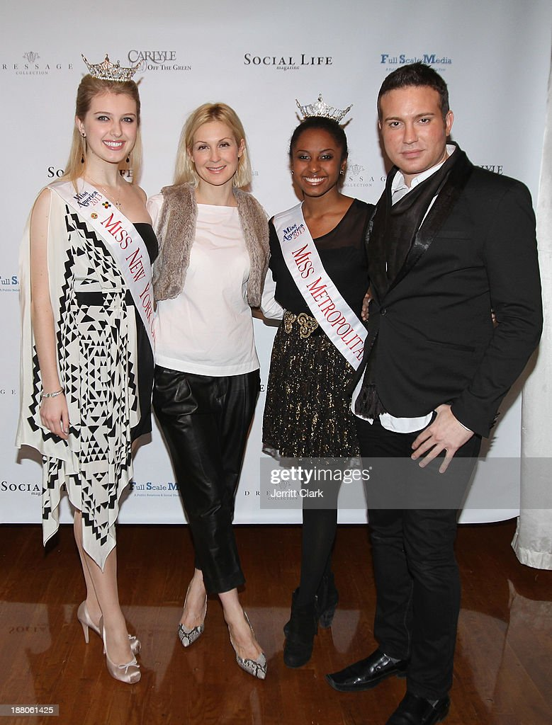Miss New York City Acacia Courtney, <a gi-track='captionPersonalityLinkClicked' href=/galleries/search?phrase=Kelly+Rutherford&family=editorial&specificpeople=217987 ng-click='$event.stopPropagation()'>Kelly Rutherford</a>, Miss Metropolitan Melissa Phillips and Matthew Berritt attend the Social Life Magazine Luxe Manhattan Event on November 13, 2013 in New York City.