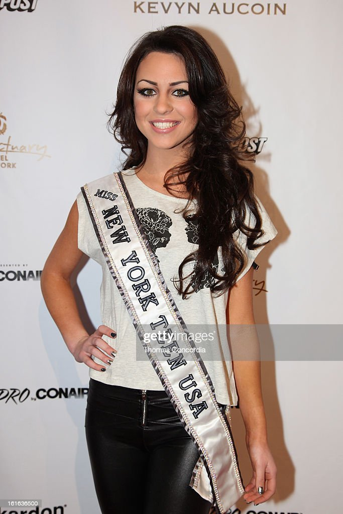 Miss New York Teen Nikki Orlando attends Boy Meets Girl by Stacy Igel the 'Invasion Collections' Fashion Show at STYLE360 presented by Conair Fashion Pavilion on February 13, 2013 in New York City.