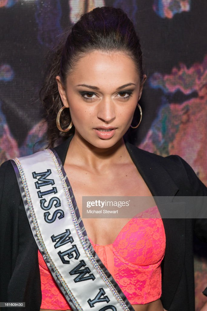 Miss New York USA 2013 Joanne Nosuchinsky attends the BlackBook Fashion Week celebration at Toy on February 12, 2013 in New York City.