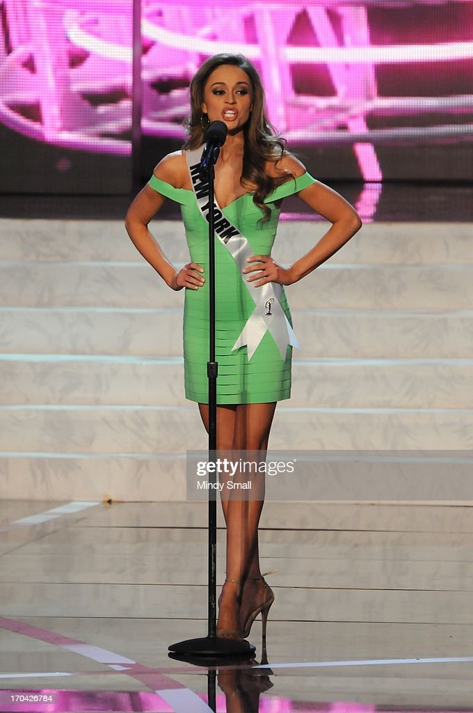 Miss New York USA Joanne Nosuchinsky appears at the 2013 Miss USA preliminary competition at PH Live at Planet Hollywood Resort & Casino on June 12, 2013 in Las Vegas, Nevada.