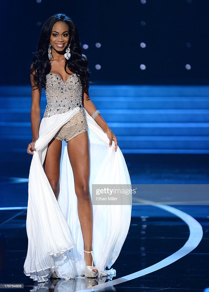 Miss North Carolina Ashley Love-Mills competes in the evening gown competition during the 2013 Miss USA pageant at PH Live at Planet Hollywood Resort & Casino on June 16, 2013 in Las Vegas, Nevada.
