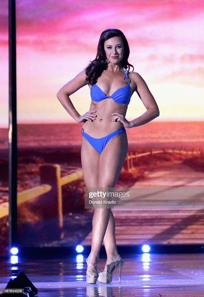 Miss North Dakota Delanie Wiedrich attends the Thursday Night Preliminaries 2016 Miss America Competition at Atlantic City Boardwalk Hall on...