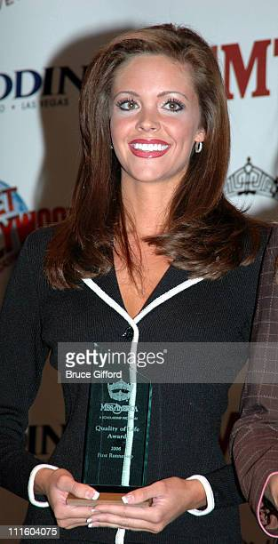 Miss Oklahoma Jennifer Berry during 2006 Miss America Pageant Press Conference and 'Quality of Life' Award at Aladdin Resort and Casino in Las Vegas...