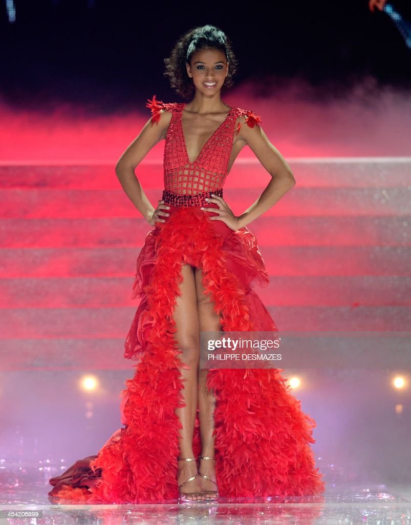 Miss Orleans Flora Coquerel, Miss France 2014, poses during the 67th edition of the beauty contest in the northeastern city of Dijon on December 7, 2013.