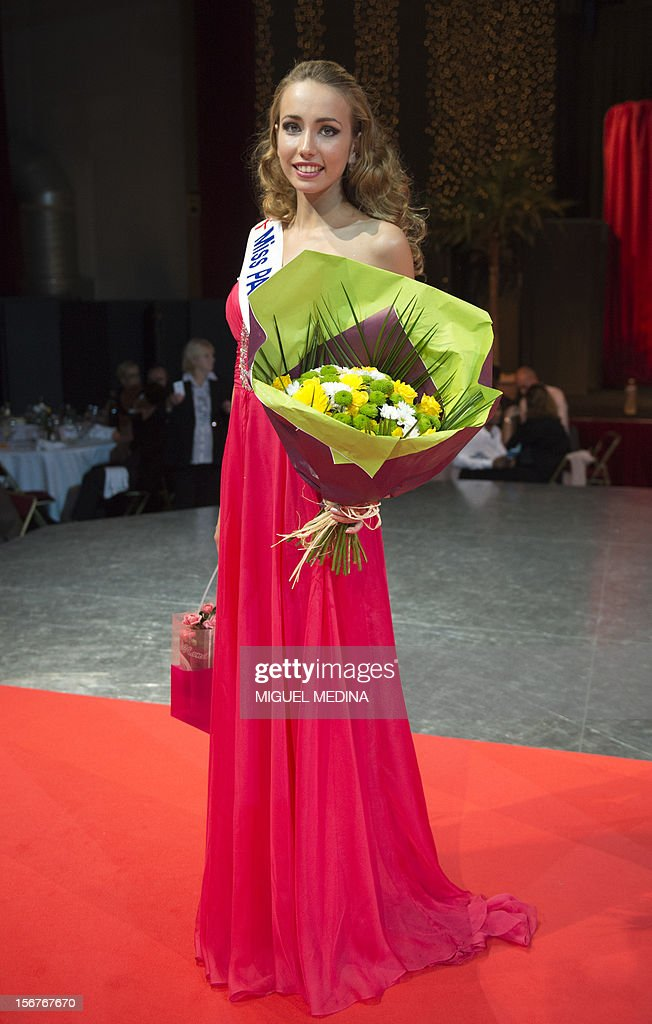 Miss Paris Candice Mejane-Bourbon poses on November 20, 2012 in the southern Paris suburb of Rungis at the end of the 2012 Miss Ile-de-France (Greater Paris area) beauty contest.