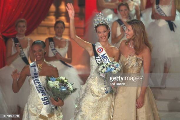 Miss Paris who came second Miss Tahiti Miss France 1999 Sophie Talmann