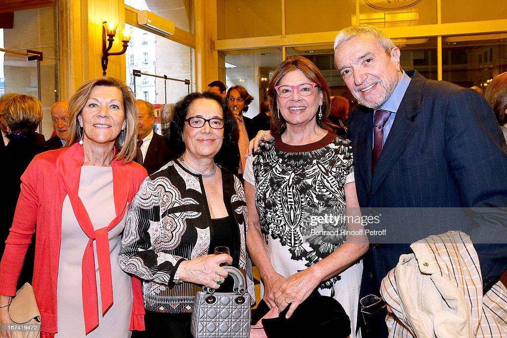 Miss Patrick De Carolis, Chantal Fournier, Ruggiero Raimondi and his wife Isabelle Raimondi attend Salle Gaveau 105th Anniversary on April 24, 2013 in Paris, France.