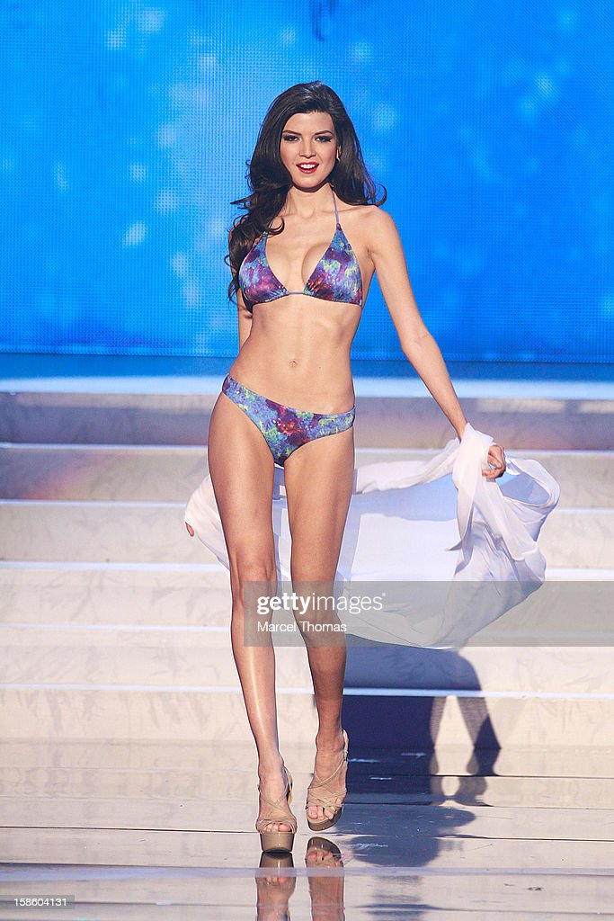 Miss Peru 2012 Nicole Faveron competes in the swim suit competition during the 2012 Miss Universe Pageant at Planet Hollywood Resort & Casino on December 19, 2012 in Las Vegas, Nevada.