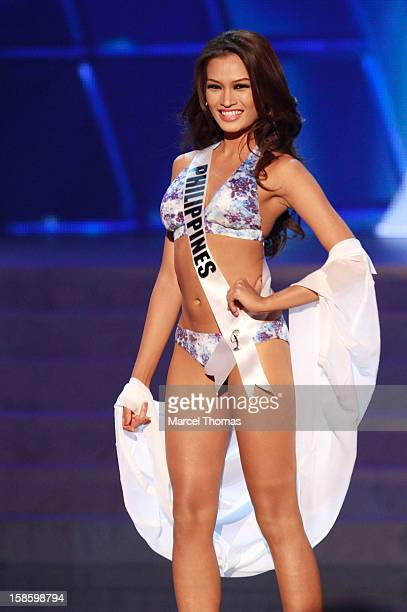 Miss Philippines 2012 Janine Tugonon competes in the swimsuit competition during the 2012 Miss Universe Pageant at Planet Hollywood Resort Casino on...