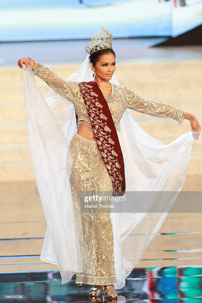 Miss Philippines Janine Tugonon displays her national costume at the 2012 Miss Universe National Costume event at Planet Hollywood Casino Resort on December 14, 2012 in Las Vegas, Nevada.