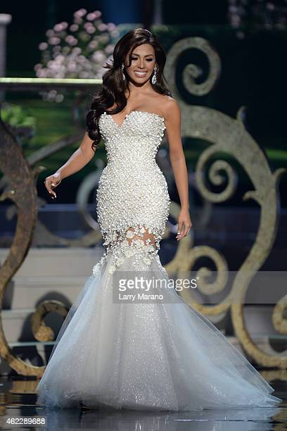 Miss Philippines Mary Jean Lastimosa onstage during The 63rd Annual Miss Universe Pageant at Florida International University on January 25 2015 in...