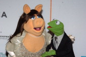 Miss Piggy and Kermit the Frog during 4th Annual Tribeca Film Festival The Muppets' Wizard of Oz Premiere Arrivals at Tribeca Performing Arts Center...