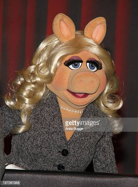 Miss Piggy attends a photocall to promote the movie 'The Muppets' at the Ritz Carlton Hotel on January 18 2012 in Berlin Germany