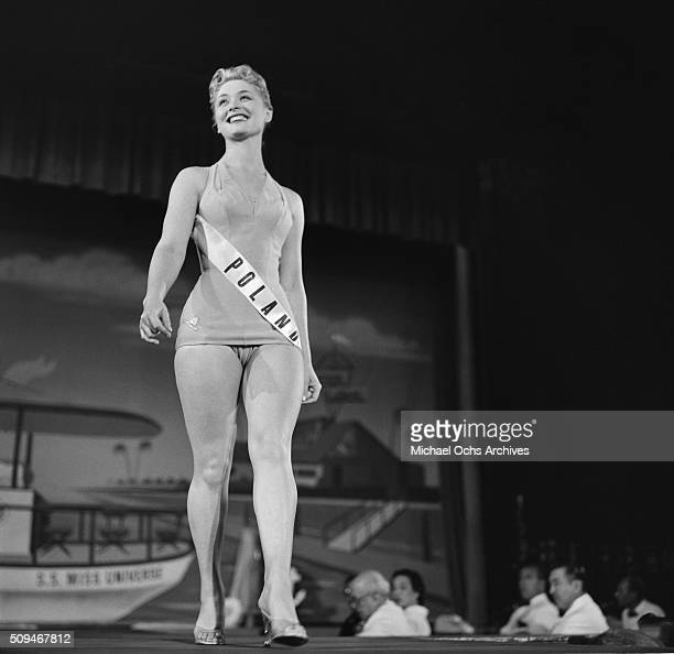 Miss Poland Alicja Bobrowska Miss Universe Contestant poses during the pageant in Long Beach California