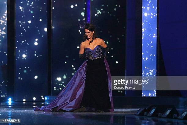 Miss Rhode Island Alexandra Curtis performs at the Thursday Night Preliminaries 2016 Miss America Competition at Atlantic City Boardwalk Hall on...