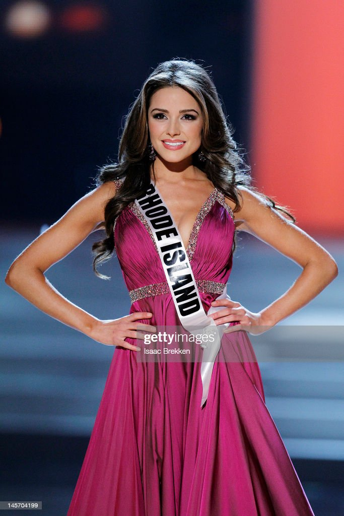 Miss Rhode Island USA Olivia Culpo competes in the 2012 Miss USA pageant at the Planet Hollywood Resort & Casino on June 3, 2012 in Las Vegas, Nevada. Culpo was later crowned Miss USA 2012.