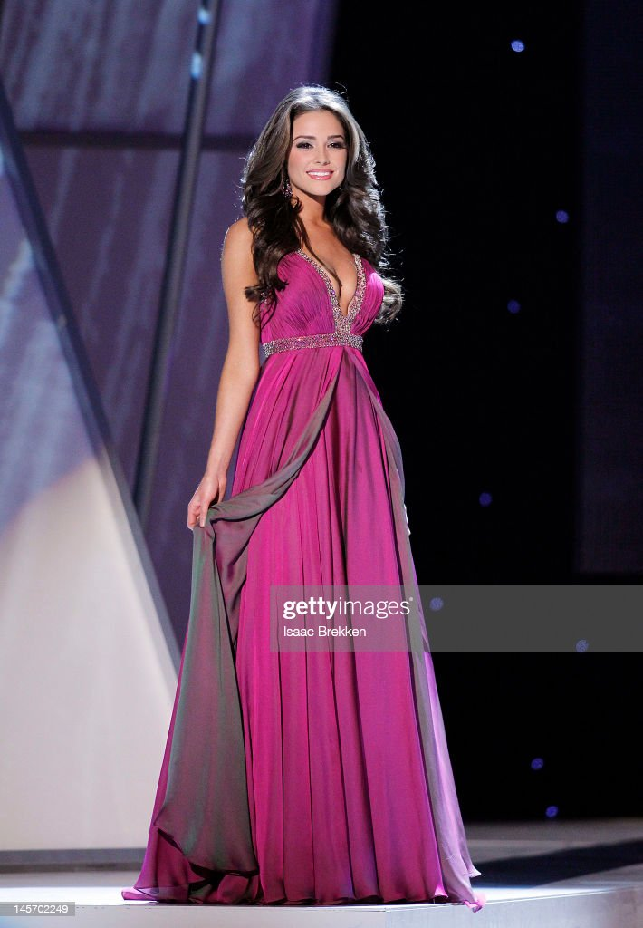 Miss Rhode Island USA Olivia Culpo competes in the eventing gown portion of the 2012 Miss USA pageant at the Planet Hollywood Resort & Casino on June 3, 2012 in Las Vegas, Nevada. Culpo was later crowned Miss USA 2012.