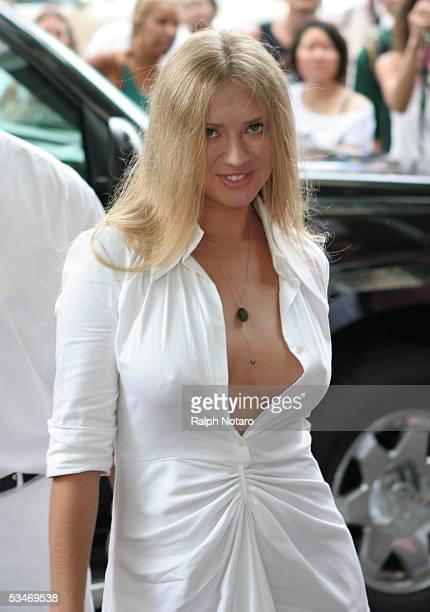 Miss Russia 2005 Natalia Nikolaeva attends the 'Style Villa' at the Sagamore Hotel on August 26 2005 in Miami Beach Florida