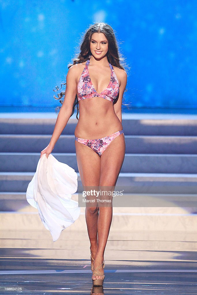 Miss Russia 2012 Elizabeth Golonova competes in the swim suit competition during the 2012 Miss Universe Pageant at Planet Hollywood Resort & Casino on December 19, 2012 in Las Vegas, Nevada.