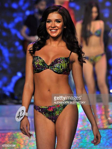 Miss Russia 2015 Sofia Nikitchuk from Yekaterinburg performs during the final of the 'Miss Russia 2015' beauty contest in Moscow on April 18 2015 AFP...