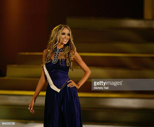 Miss Russia Kseniya Sukhinova appears on stage to be crowned the 58th Miss World at Sandton Convention Centre on December 13 2008 in Johannesburg...