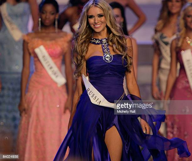 Miss Russia Kseniya Sukhinova is announced winner of the 58th Miss World at Sandton Convention Centre on December 13 2008 in Johannesburg South Africa
