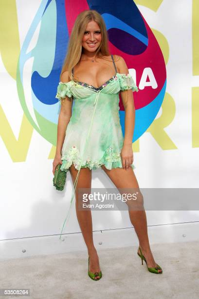Miss Russia Natalia Nikolaev arrives at the 2005 MTV Video Music Awards at the American Airlines Arena on August 28 2005 in Miami Florida