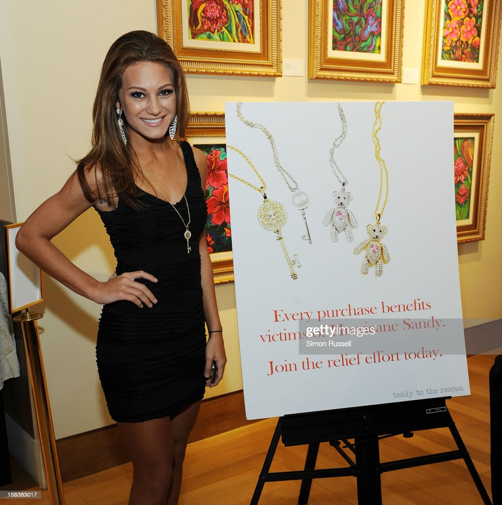 Miss S. Shore Long Island Teen USA April Maroshick attends the Same Sky Holiday Benefit Reception at Ana Tzarev Gallery on December 14, 2012 in New York City.