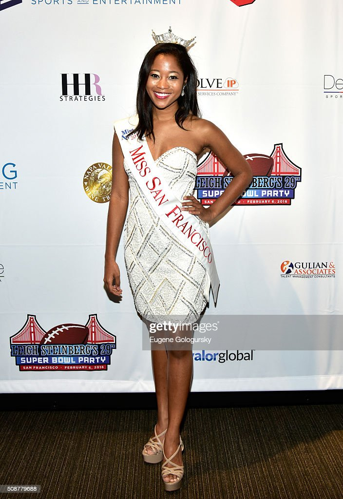 Miss San Francisco 2015 Felicia Stiles attends the 29th Annual Leigh Steinberg Super Bowl Party on February 6, 2016 in San Francisco, California.