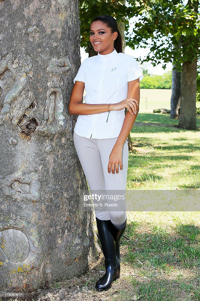 Miss Seychelles Agnes Gerry attends the Nino Lettieri Couture fashion show as part of AltaRoma AltaModa Fashion Week Autumn/Winter 2013 on July 6, 2013 in Rome, Italy.
