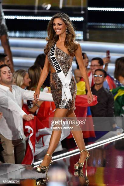 Miss South Africa 2017 DemiLeigh NelPeters is named a top 16 finalist during the 2017 Miss Universe Pageant at The Axis at Planet Hollywood Resort...