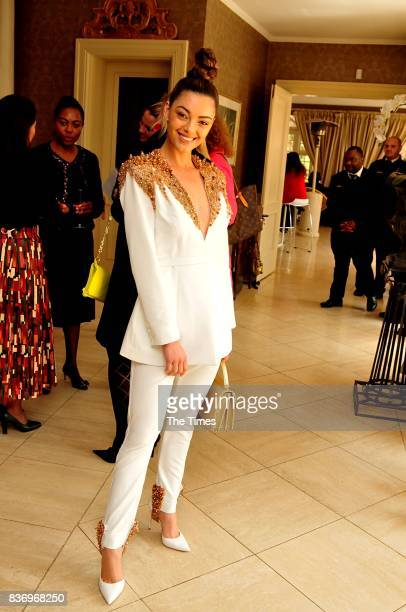 Miss South Africa DemiLeigh NelPeters during the 2017 Fairlady Women of the Future Awards held at the Summer Place on August 18 2017 in Sandton South...