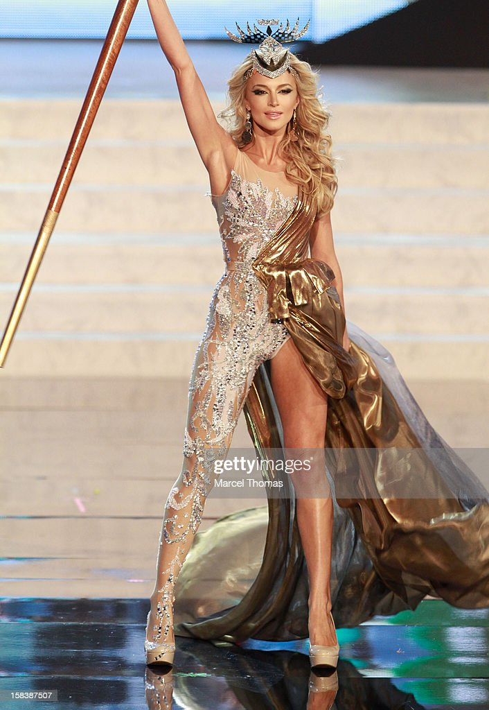 Miss South Africa Melinda Bam displays her national costume at the 2012 Miss Universe National Costume event at Planet Hollywood Casino Resort on December 14, 2012 in Las Vegas, Nevada.