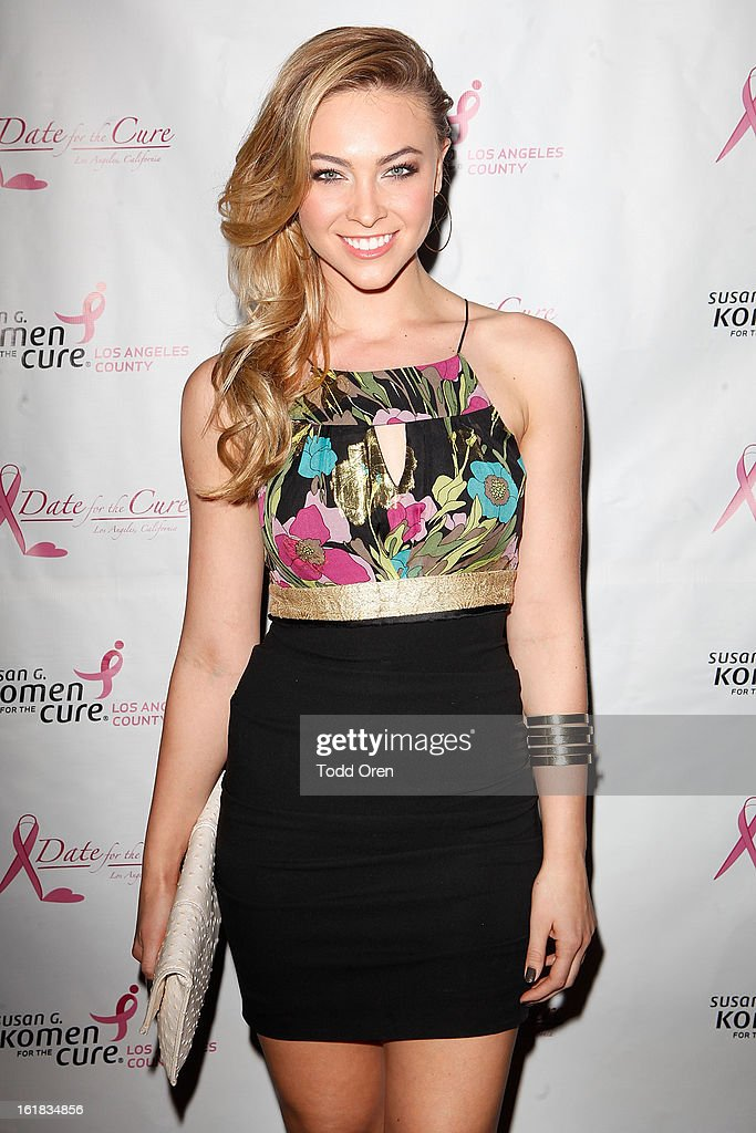 Miss South Carolina 2011 Courtney Hope Turner poses at the Date for the Cure To Benefit Susan G. Komen For The Cure on February 16, 2013 in Universal City, California.