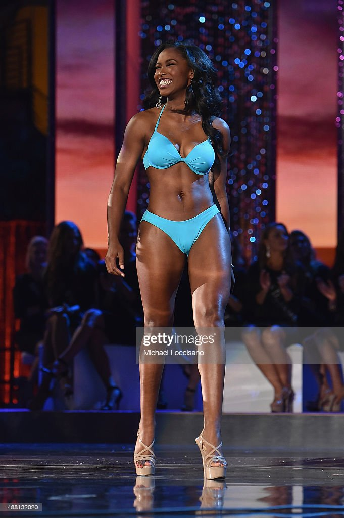 Miss South Carolina Daja Dial attends the 2016 Miss America Competition at Boardwalk Hall Arena on September 13 2015 in Atlantic City New Jersey