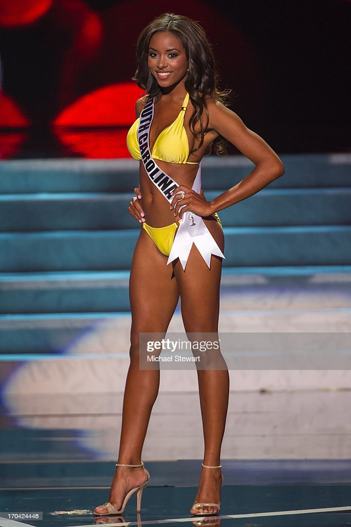 Miss South Carolina USA <a gi-track='captionPersonalityLinkClicked' href=/galleries/search?phrase=Megan+Pinckney&family=editorial&specificpeople=10981453 ng-click='$event.stopPropagation()'>Megan Pinckney</a> competes in the 2013 Miss USA pageant preliminary competition at PH Live at Planet Hollywood Resort & Casino on June 12, 2013 in Las Vegas, Nevada.