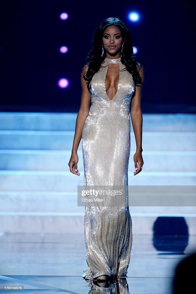 Miss South Carolina USA Megan Tyler Pinckney competes in the evening gown competition during the 2013 Miss USA pageant at PH Live at Planet Hollywood Resort & Casino on June 16, 2013 in Las Vegas, Nevada.